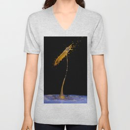 Abstract Flower 4 Unisex V-Neck