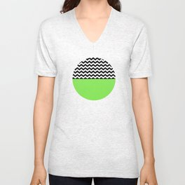 Moiety Green Unisex V-Neck