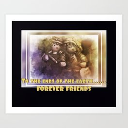 BFF Forever Friends Art Print