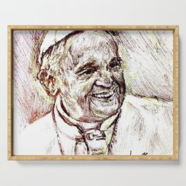 POPE FRANCIS Serving Tray