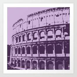 Purpura Coliseum Art Print