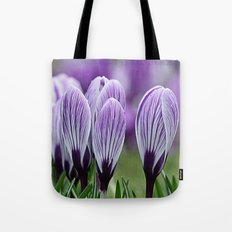 Purple Crocus Tote Bag