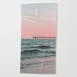Pink Ocean Beach Towel