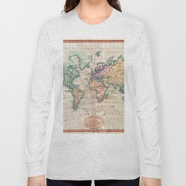Vintage World Map 1801 Long Sleeve T-shirt