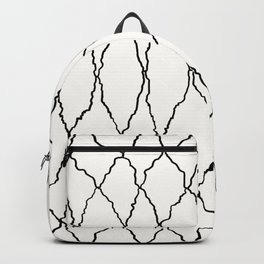 Moroccan Diamond Weave in Black and White Backpack