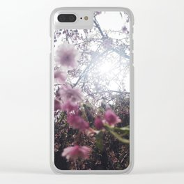 backlit sakura Clear iPhone Case