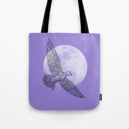 moon and bird Tote Bag