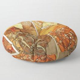 "Alphonse Mucha ""The Gem Series - Ruby, Amethyst, Emerald, Topaz"" Floor Pillow"