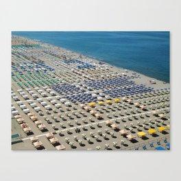 Italian beach from above Canvas Print
