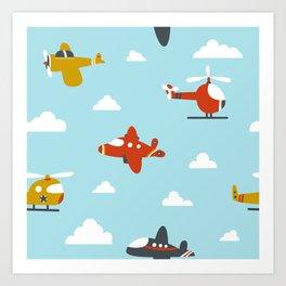 Children's plane Art Print