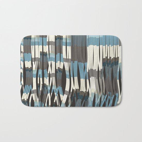 Abstract Graphic Ribbons Bath Mat