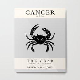 Minimalist Cancer Metal Print