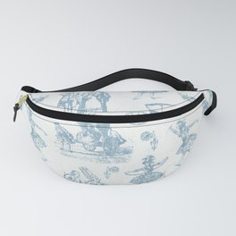 French Toile in Pigeon Blue Fanny Pack