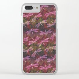 Dragonfly Late Summer Dance Clear iPhone Case