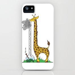 Long Long Giraffe Bong iPhone Case
