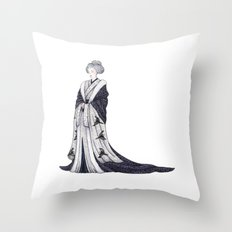 Yuki Onna Throw Pillow