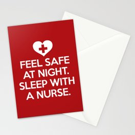 Sleep With A Nurse Funny Quote Stationery Cards