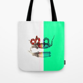 female, diagonally Tote Bag