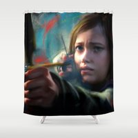 last of us Shower Curtains featuring The Last Of Us: Ellie by Kate Dunn