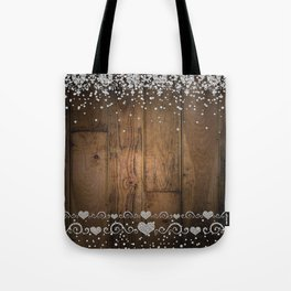 Rustic Glam Diamond Sparkles Tote Bag