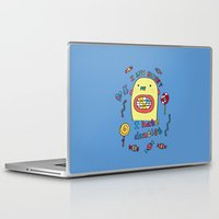 dentist Laptop & iPad Skins featuring I hate dentist by PINT GRAPHICS