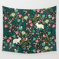 friends Wall Tapestries featuring Forest Friends by Anna Deegan