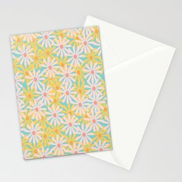 Retro Sunny Floral Pattern Stationery Cards