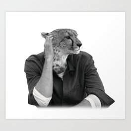 Cheetah Model Animal Art Print