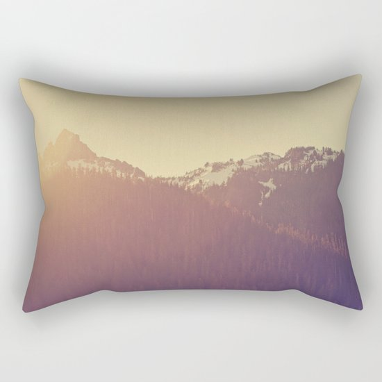 Sunrise over the Mountains Rectangular Pillow