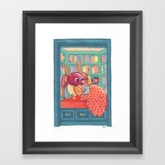 Book Nook Framed Art Print