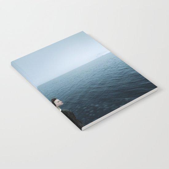 Girl ocean ice mountain Notebook