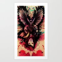 totem Art Prints featuring Totem by Gavin Ho