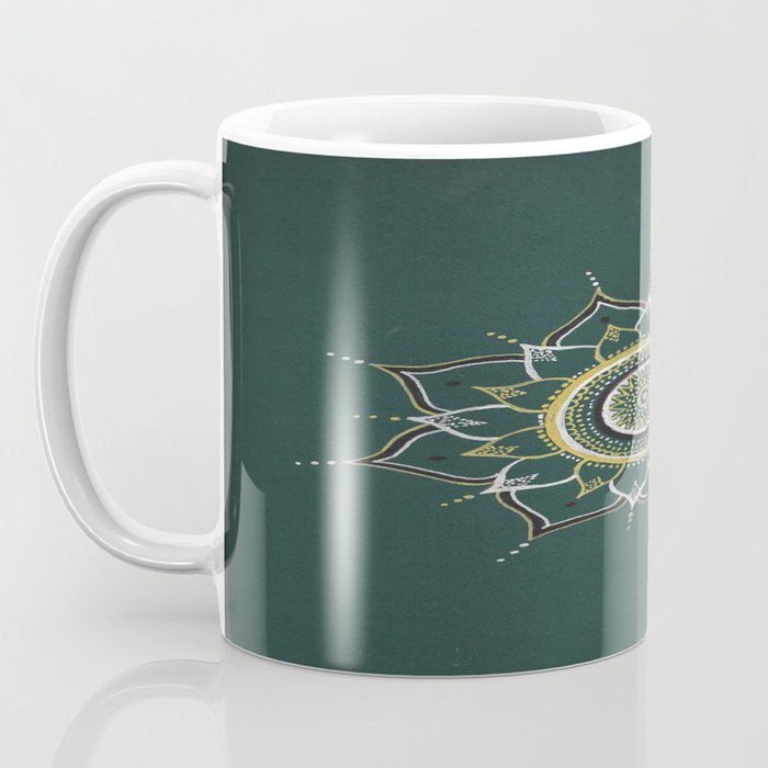 Gold & Silver Unalome Mandala Coffee Mug