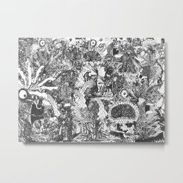 Monster Forest Metal Print