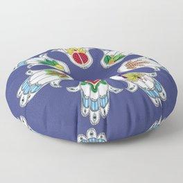 Seven Species Hamsa Floor Pillow