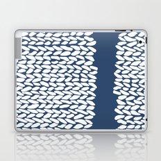 Missing Knit Navy Laptop & iPad Skin