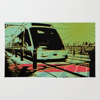 train Area & Throw Rugs featuring Train by Pedro Nogueira