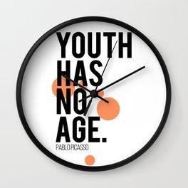 Youth has no age Wall Clock