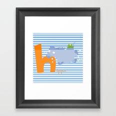 h for hippo Framed Art Print