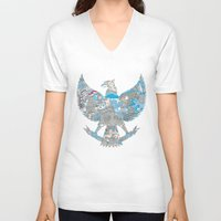 indonesia V-neck T-shirts featuring Indonesia Garuda by ginan perdana