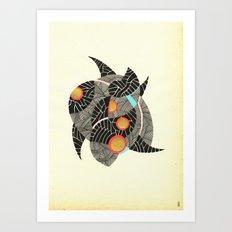 - summer spaceships of love - Art Print