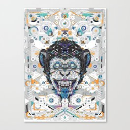electro monkey Canvas Print