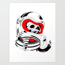chopped in space Art Print