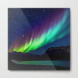 A Spectacle Of Polar Lights | Oil Painting Metal Print