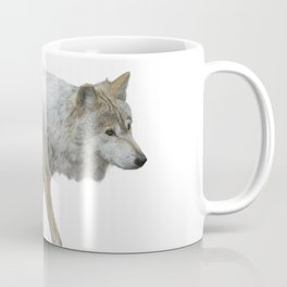 wolf double exposure in the winter time Coffee Mug