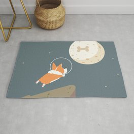Fly to the moon Rug