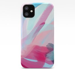 Pastel Abstract Brushstrokes Graphic iPhone Case