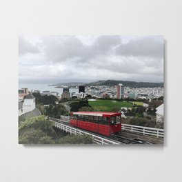 Wellington, New Zealand - Cable Car Metal Print