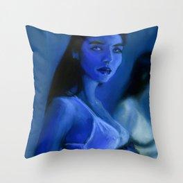 Blue Morphos Throw Pillow