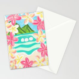 Plumeria ocean view Stationery Cards